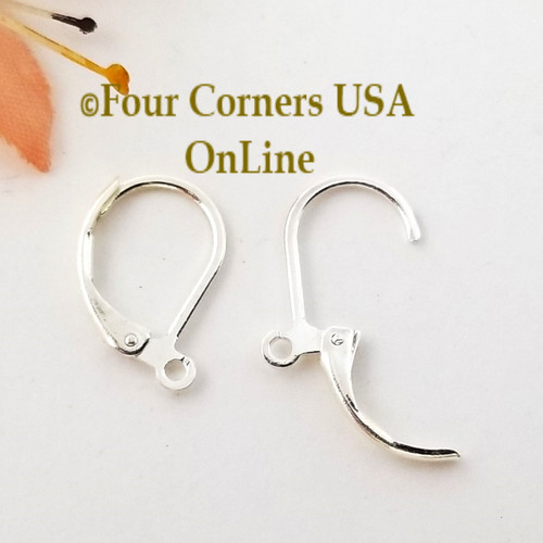 Leverback Silver Plated Earring Component with Loop 10 pairs Closeout Final Sale Four Corners USA OnLine Designer Jewelry Making Beading Craft Supplies