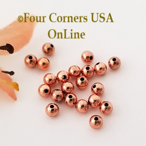 3mm Smooth Round Bright Copper Beads Approximately 195 Pieces BDZ-2109 Four Corners USA OnLine Designer Jewelry Making Beading Craft Supplies