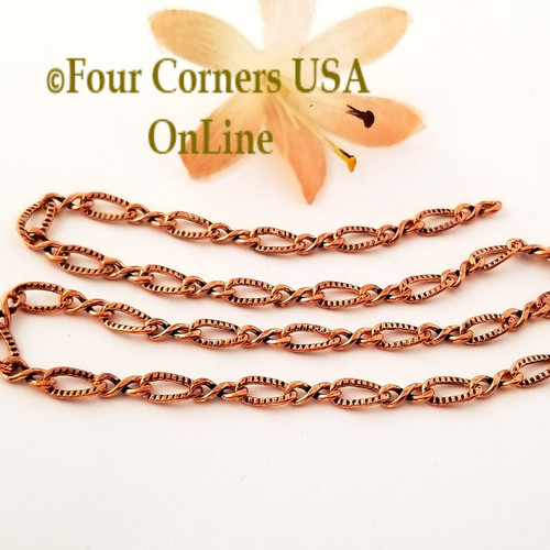Copper Chain 4mm Stamped Oval Infinity Link 105 Inch Bulk Closeout Final Sale BDZ-2114 Four Corners USA OnLine Jewelry Making Beading Craft Supplies