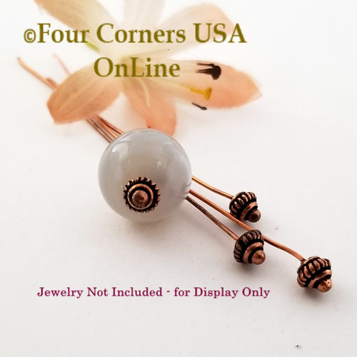 Copper Domed Bead Accent Head Pin Jewelry Finding Component BDZ-2120 Four Corners USA OnLine Jewelry Making Beading Craft Supplies