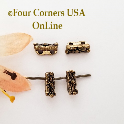 2 Strand Spacer Bead Antiqued Gold 30 Piece Closeout Final Sale BDZ-2142 Four Corners USA OnLine Jewelry Making Beading Craft Supplies