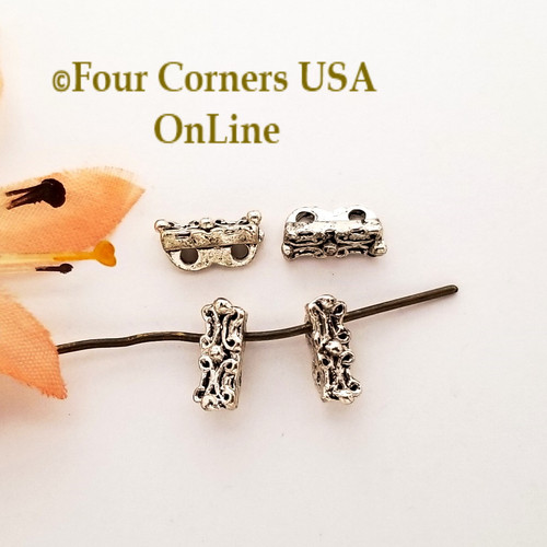 2 Strand Spacer Bead Antiqued Silver 18 Piece Closeout Final Sale BDZ-2145 Four Corners USA OnLine Jewelry Making Beading Craft Supplies