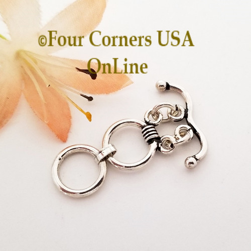 2 Strand Bar and Two Ring Extended Toggle Clasp Sterling Silver Closeout Final Sale BDZ-2151 Four Corners USA OnLine Jewelry Making Beading Craft Supplies