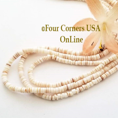 Conus Shell 3mm Heishi 24 Inch Bead Strands Four Corners USA OnLine Jewelry Making Beading Craft Supplies
