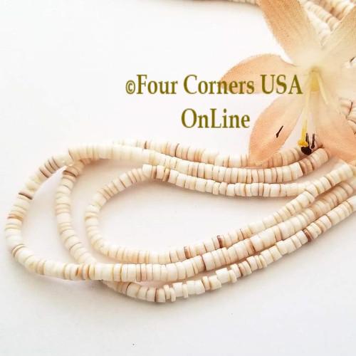 Conus Shell 3mm Heishi 24 Inch Bead Strands Four Corners USA OnLine Jewelry Making Beading Craft Supplies