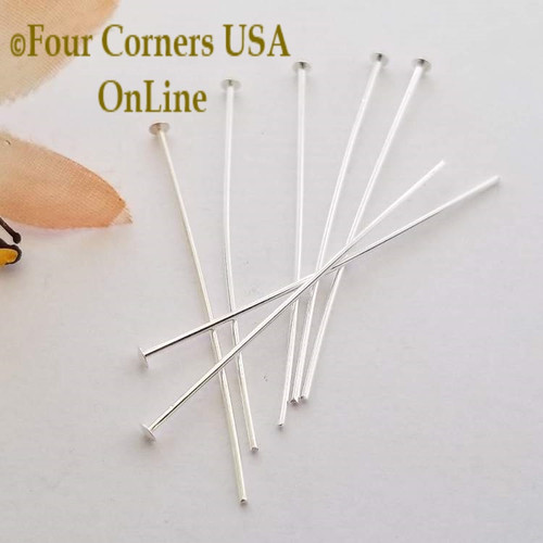 21 Gauge 1.5 Inch Silver Plated Headpin 480 Piece Pack Closeout Final Sale Four Corners USA OnLine Jewelry Making Beading Craft Supplies