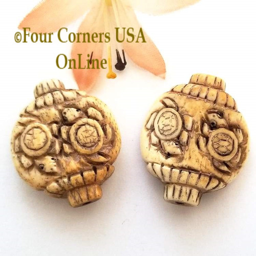 Carved Bone Double Turtle Bead Jewelry Making Component O-09032 Closeout Final Sale Four Corners USA OnLine Jewelry Making Beading Craft Supplies