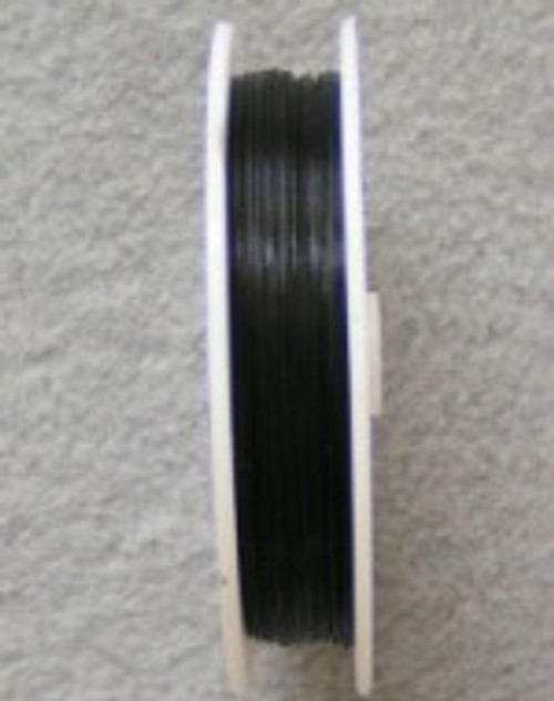 Beading Wire Black 7-Strand .015 328 Feet - Final Sale (STR-09001-B)