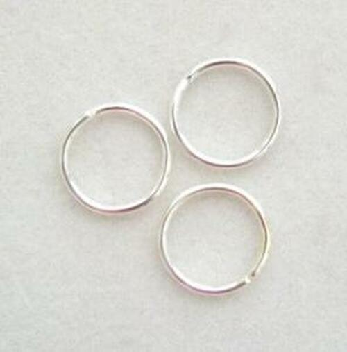 10mm Silver Plated Smooth Round 20 gauge Open Jump Rings - 50 pieces (PF-09022-S)
