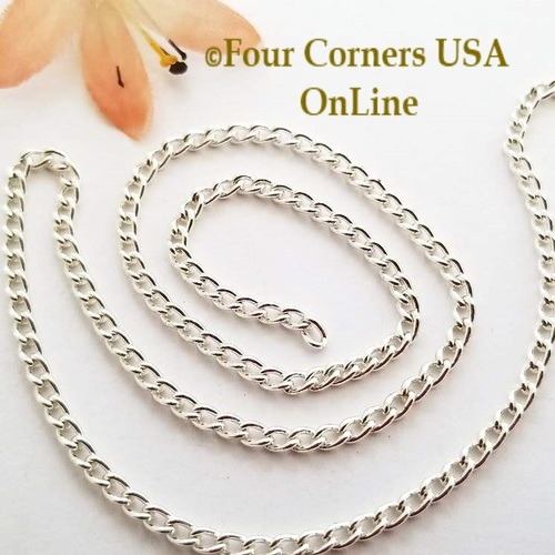 2.5mm Twisted Cable Silver Plated Steel Chain 5 foot package Four Corners USA OnLine Jewelry Making Beading Craft Supplies