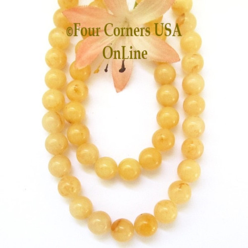 Aragonite 8mm Smooth Round Gemstone 16 Inch Bead Strand Closeout Final Sale BDS-16015 Four Corners USA OnLine Jewelry Making Beading Crafting Supplies