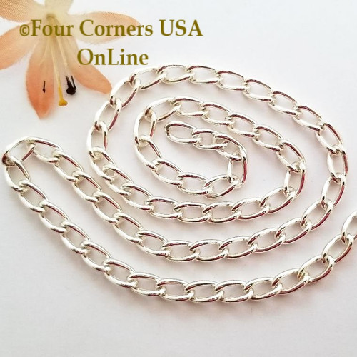 11mm Twisted Cable Silver Plated Steel Chain 5 foot package Four Corners USA OnLine Jewelry Making Beading Craft Supplies