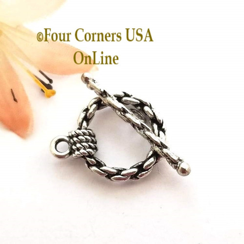 Chain Link Silver Plated Toggle Clasps 10 Set Pack Four Corners USA OnLine Jewelry Making Beading Craft Supplies