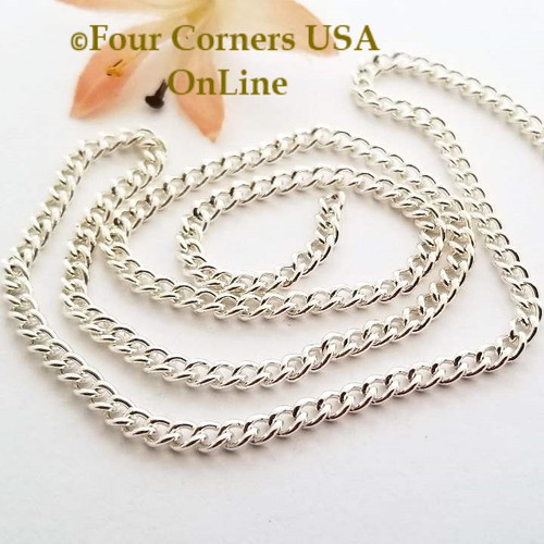 3.2mm Twisted Cable Silver Plated Steel Chain 5 foot package Four Corners USA OnLine Jewelry Making Beading Craft Supplies