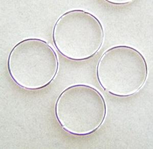12mm Silver Plated Smooth Round 20 gauge Open Jump Rings - 50 pieces (PF-09199-S)