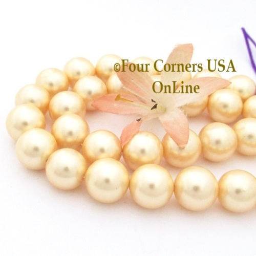 Pearlized Mother of Pearl 12mm Round Bead Strands O-09065 Four Corners USA OnLine Jewelry Making Beading Supplies