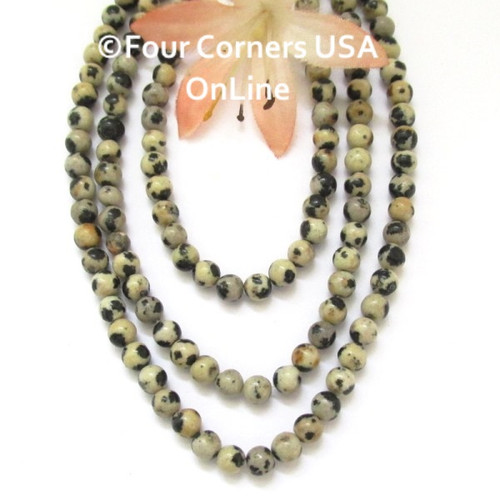 Dalmatian Jasper 4mm Smooth Round 16 inch Bead Strands BDS-16016 Four Corners USA OnLine Jewelry Making Beading Crafting Supplies