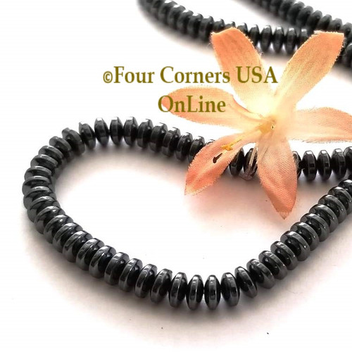 Hematite 6mm Rondelle 16 inch Bead Strands Closeout Final Sale Four Corners USA OnLine Jewelry Making Beading Craft Supplies