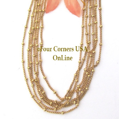 14K Gold-Filled Twisted Cable Bead Chain with Spring Clasp CHAIN-001 Four Corners USA OnLine