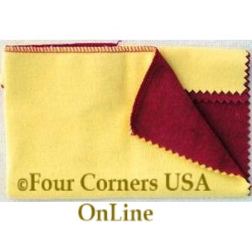 Jeweler's Rouge Treated Double Ultimate Polishing Cleaning Cloth 10 Inch Surface Closeout Final Sale CLEAN-001 Four Corners USA OnLine Jewelry Supplies