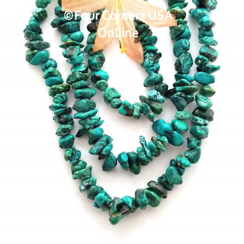Turquoise Small 5-7mm Tumbled Pebbles 16 inch Bead Strands Closeout Final Sale Four Corners USA OnLine Designer Jewelry Making Beading Craft Supplies