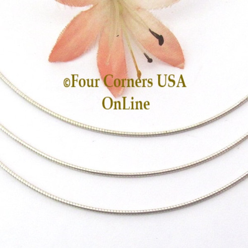 16 Inch 1mm Omega Style Sterling Silver Chain with Lobster Clasp CHAIN-009 Four Corners USA OnLine