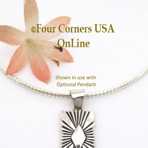 16 Inch 2.5mm Omega Style Sterling Silver Chain with Lobster Clasp CHAIN-012 Four Corners USA OnLine