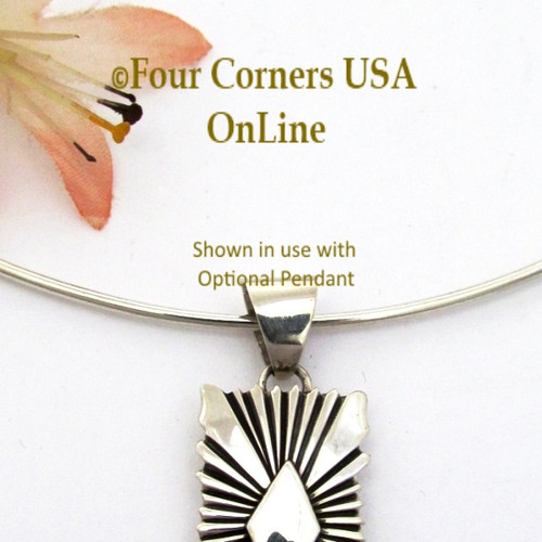 16 1/2 Inch Handmade Sterling Silver Neck Ring CHAIN-010 Four Corners USA OnLine