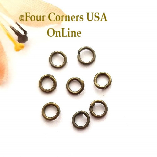 4mm Open Jump Ring Antiqued Brass over Steel 150 pieces Closeout Final Sale Four Corners USA OnLine Jewelry Making Beading Craft Supplies