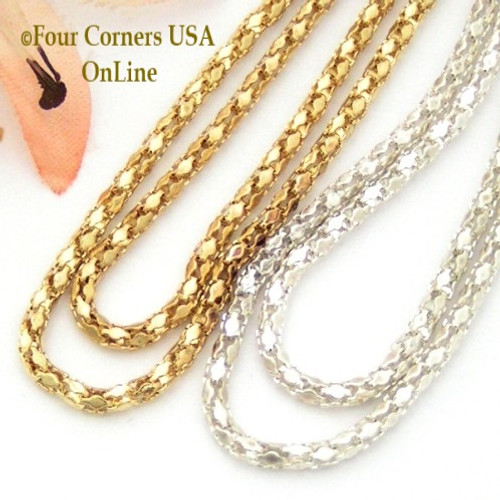 2mm Diamond Link 18 Inch Finished Chains Closeout Final Sale Four Corners USA Online Jewelry Making Supplies