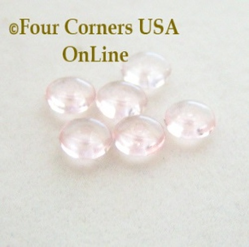 Czech Glass 6mm Rosaline Rondelle Beads 36 Piece Package Four Corners USA OnLine Jewelry Making Beading Craft Supplies