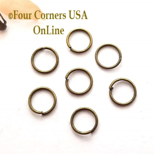 7mm Open Jump Ring Antiqued Brass over Steel 150 pieces Closeout Final Sale Four Corners USA OnLine Jewelry Making Beading Craft Supplies