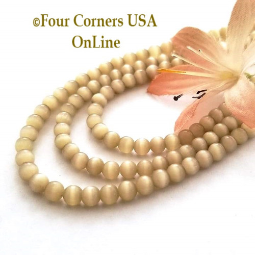 Cats Eye Taupe Optics 4mm Smooth Round 14 Inch Bead Strands Four Corners USA OnLine Designer Jewelry Making Beading Craft Supplies