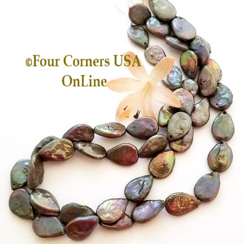 Bronze Teardrop Freshwater Pearl Bead Strands Jewelry Supplies Closeout Final Sale P-09047 Four Corners USA OnLine Jewelry Making Beading Craft Supplies