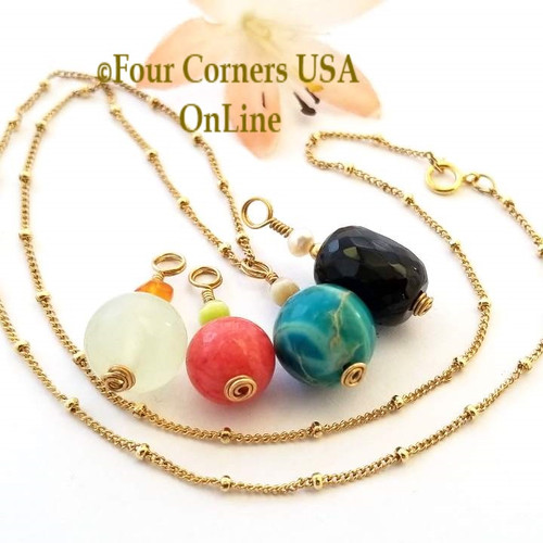 Interchangeable Pendants 14K Gold Filled Necklace Four Corners USA OnLine Artisan Jewelry
