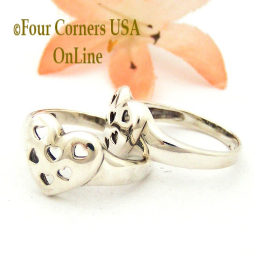 Size 7 1/2 Hearts in a Heart Sterling Silver Ring Relios Southwest Spirit Collection Made in USA Four Corners USA OnLine Closeout Final Sale