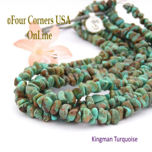 On Sale Now! 6mm Green Copper Matrix Kingman Turquoise Nugget Bead Strands Group 8 Four Corners USA OnLine Jewelry Making Supplies