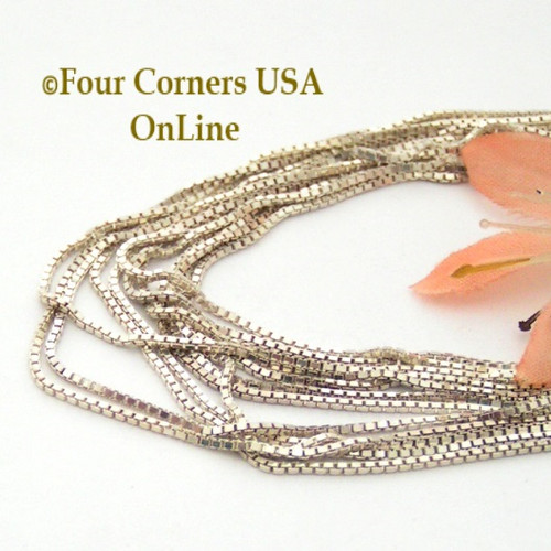 14 Inch Sterling Silver Box Chain with Spring Clasp Four Corners USA OnLine Jewelry
