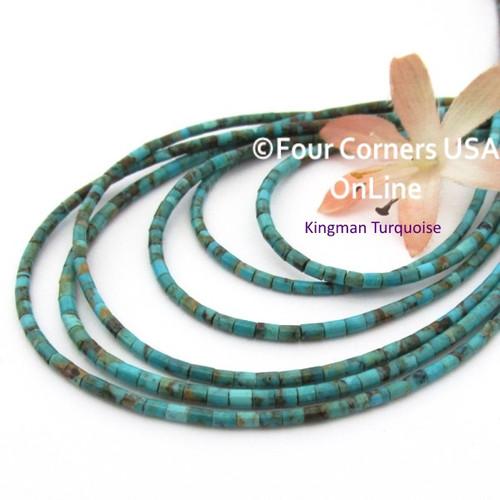 2mm Heishi Kingman Boulder Turquoise Beads 18 Inch Strand TQ-17127 Four Corners USA OnLine Jewelry Making Beading Supplies