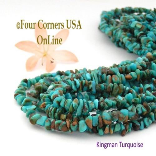 On Sale Now! 4-5mm Arizona Kingman Boulder Turquoise Nugget Beads 16 Inch Strands Four Corners USA Online Jewelry Making Supplies