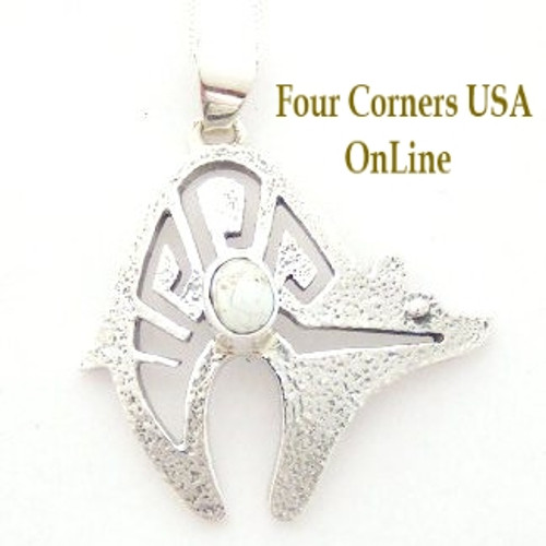 On Sale Now Dry Creek Turquoise Bear Pendant 18 Inch Italian Chain Necklace No 15 Artisan Charlie Bowie (NAP-13015) Four Corners USA OnLine