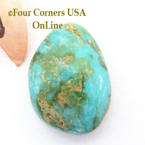 Burtis Blue Turquoise 23 carat Cabochon 004 (Florence Mine) Cripple Creek, Colorado Four Corners USA OnLine Jewelry Supplies