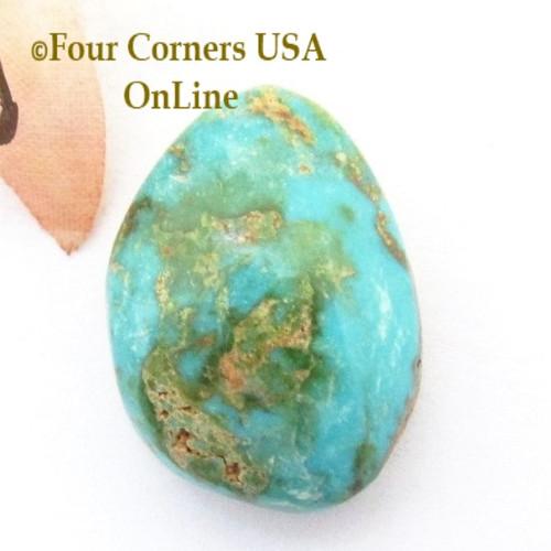 Burtis Blue Turquoise 23 carat Cabochon 004 (Florence Mine) Cripple Creek, Colorado Four Corners USA OnLine Jewelry Supplies