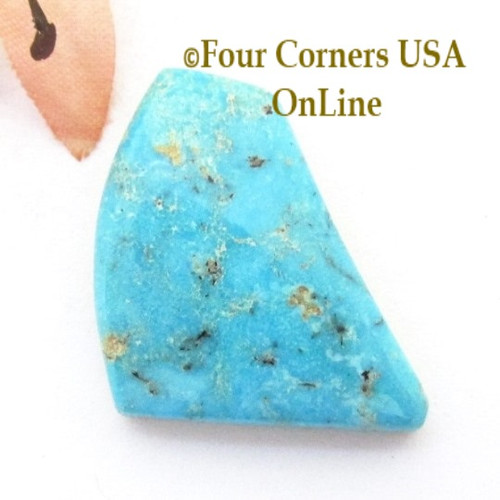 Burtis Blue Turquoise 14 carat Cabochon 005 (Florence Mine) in Cripple Creek, Colorado Four Corners USA OnLine Jewelry Supplies