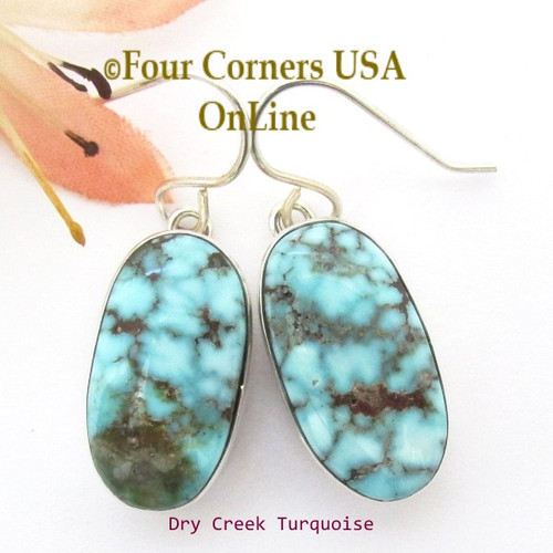 On Sale Now Dry Creek Turquoise Sterling Earrings Navajo Artisan Benson Shorty Four Corners USA OnLine Native American Jewelry NAER-1431