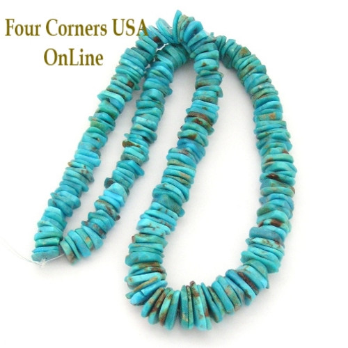On Sale Now! Graduated FreeForm Slice Kingman Turquoise Beads Designer 16 Inch Strand Four Corners USA OnLine Jewelry Making Supplies GFF08