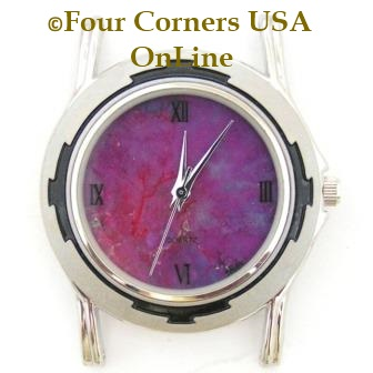 Men's Mohave Purple Kingman Turquoise Stone Stainless Watch Face 18mm pin NAWF-MP-1M