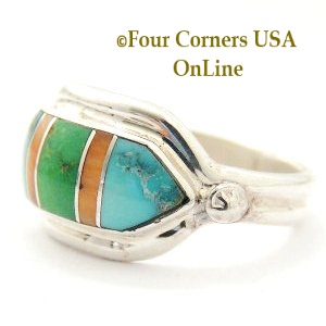 Spiny Turquoise Inlay Ring Four Corners USA OnLine Native American Jewelry