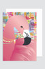 (5 PACK)  'Sweet Dreams - Flamingo' Greeting Card