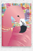 Sweet Dreams nursery canvas, stretched and ready to hang with pretty flamingo and colourful, abstract background.
